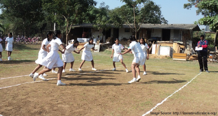 children playing kabaddi