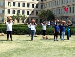 Students participated in sports competitions