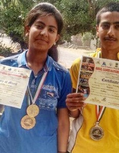 Brother-sister won silver in Archery competition