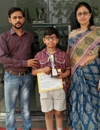 Darsh selected for the State Level Chess