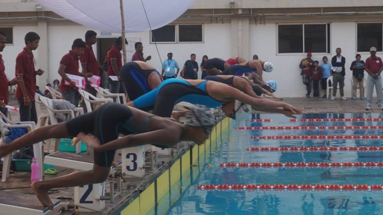State all junior and junior swimming competition