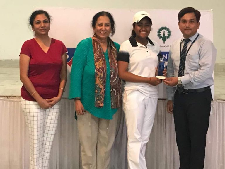 Anika confirmed the position in the Indian women's golf team