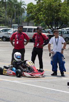 Aryan missed trophy in X-30 international carts race