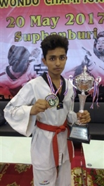 Harsh Gupta scored a century in Taekwondo