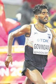 Govindan Lakshmanan out, but meets his idol Mo Farah