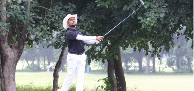 Amardeep reached the fourth position jointly with five birdies