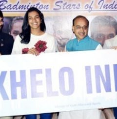 Sindhu, Saina, Srikanth felicitated by Sports Minister