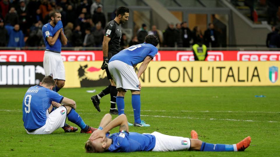 Italy lose to Sweden in play-off, won't play a FIFA WC