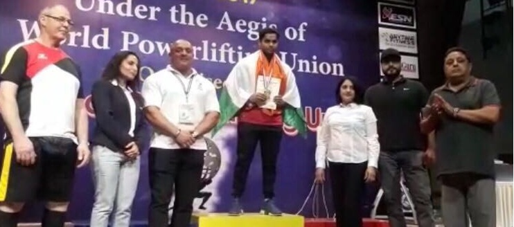 Ashish made the world record, power lifting in the bench press