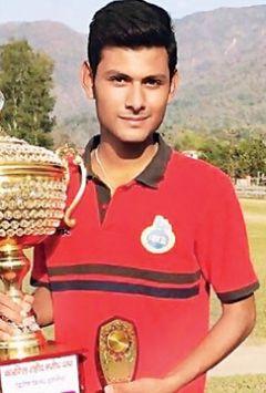 Harsh got 20 wickets in Venu Mankad Trophy