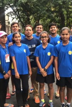 Rachita and Vipul of Bilabong won mixed doubles title of National CBSE