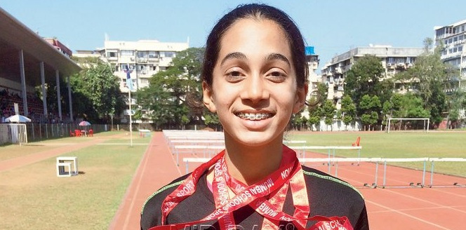 Inter-school athletics-Three cheers to golden girl Sharvari