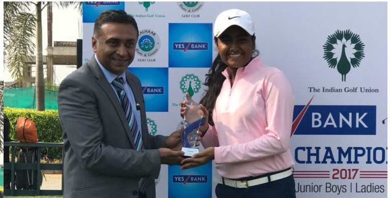 NGC's Anika Verma on top in U18 golf