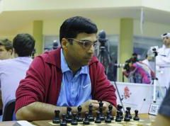 Second win for Anand