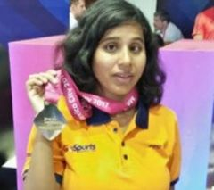Kanchanmala becomes first Indian to win gold