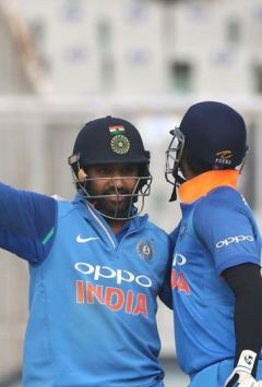 Rohit Sharma's record double ton powers IND to 392