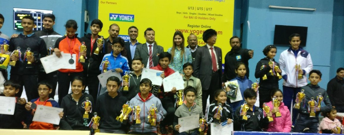 Yogames Elite District Badminton Tournament concludes at Noida Stadium