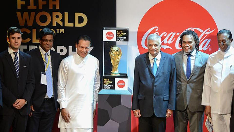 FIFA World Cup trophy arrives in Sri Lanka