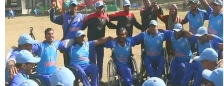 Ritanshu Sharma selected in Indian Wheel Chair cricket team