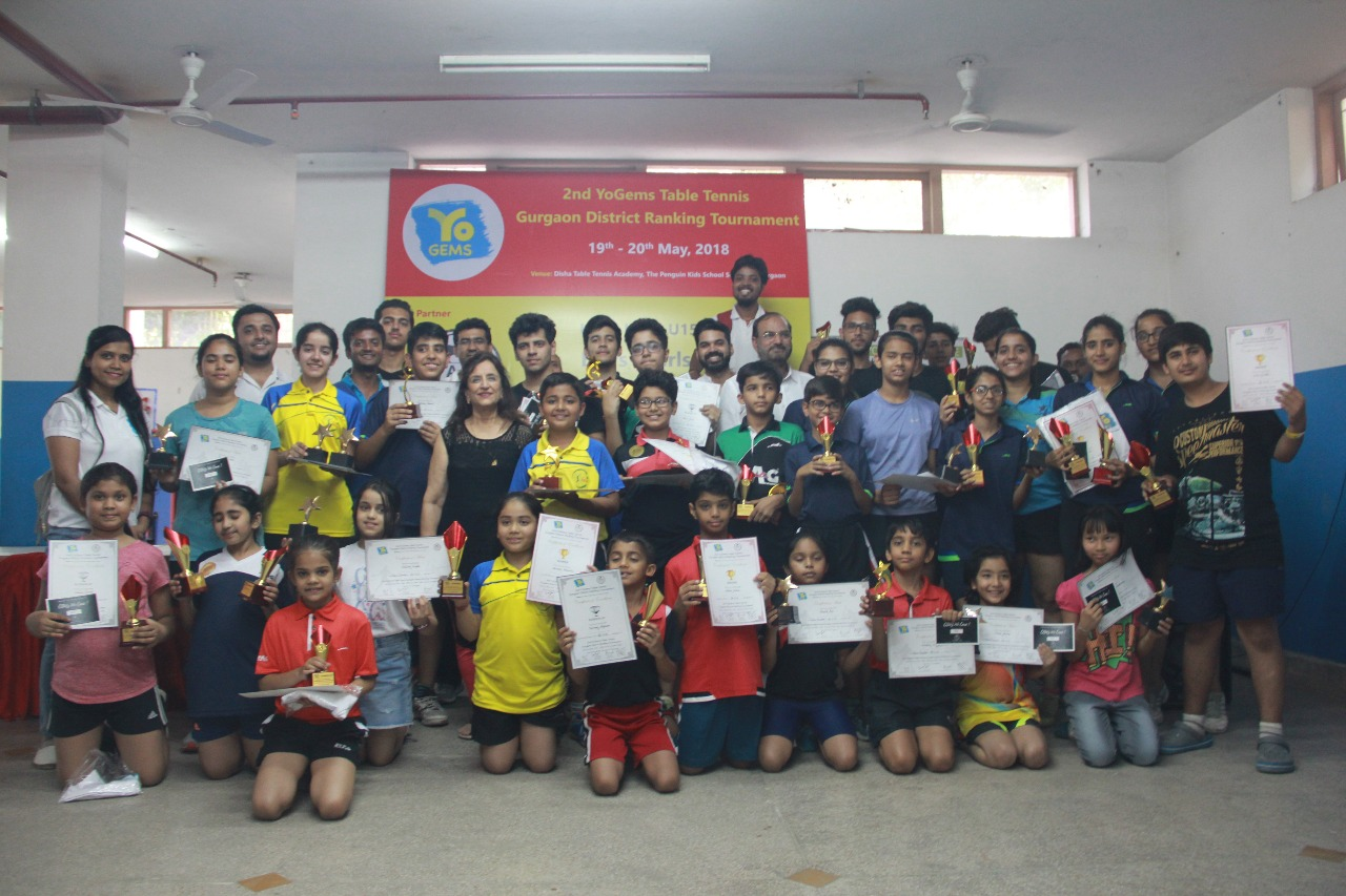 2nd YoGems Table Tennis Gurgaon District Ranking Tournament