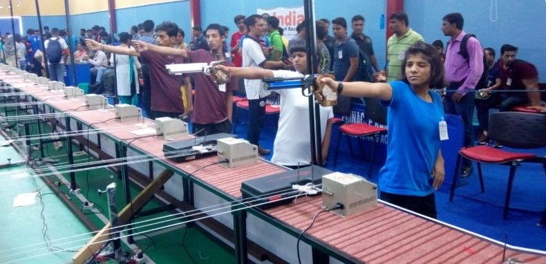 Uttar Pradesh's State Level 10 meter air rifle competition