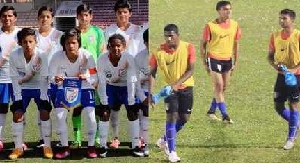 Indian under-16 football men's and women team