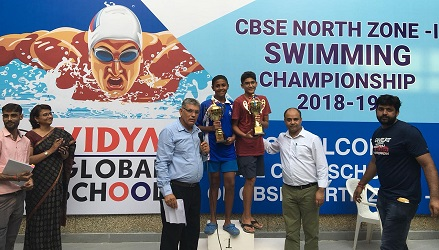 CBSE North Zone-1 Swimming Competition 2018