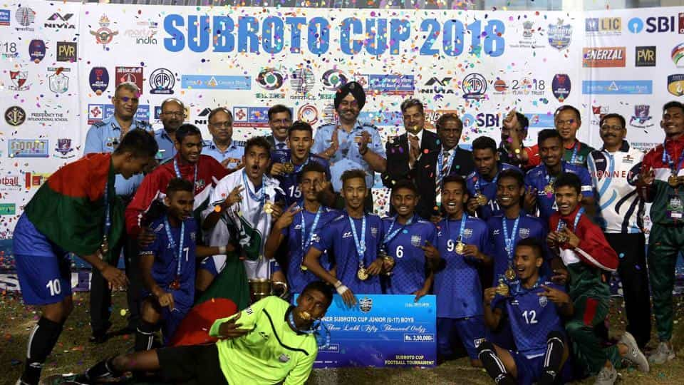 Junior boys Subroto Cup International Football Tournament