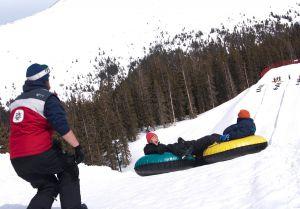 snow sledding