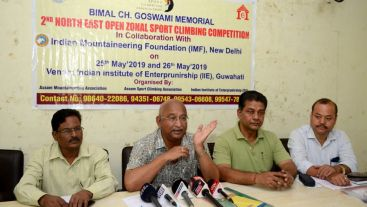 Bimal Chandra Goswami Memorial 2nd North East Open Sport Climbing Competition from May 25